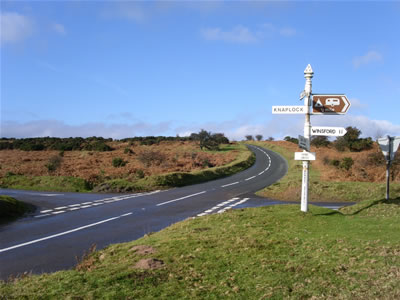 winsford hill and the exmoor national park. Black Bedroom Furniture Sets. Home Design Ideas